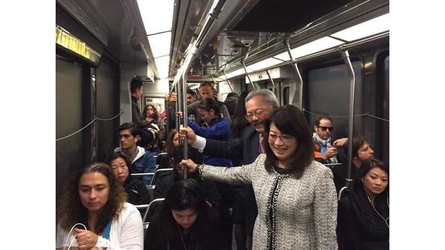 San Francisco city officials vow to ride public transit for the next 22 days
