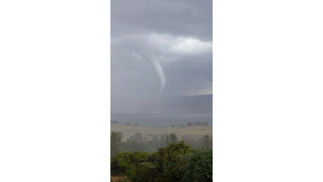 Viewer sends in photo of Lake Berryessa waterspout