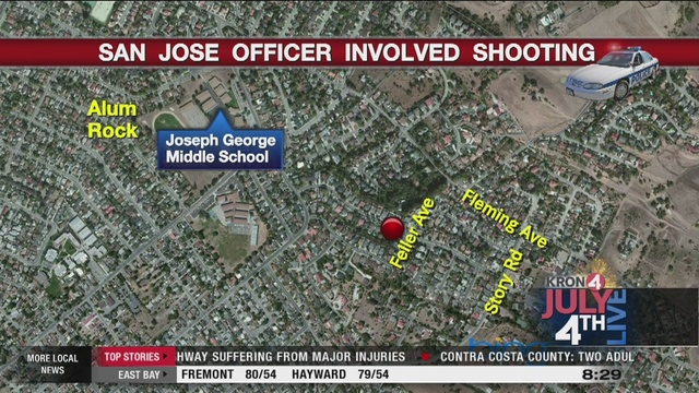 San Jose police investigating officerinvolved shooting on Feller