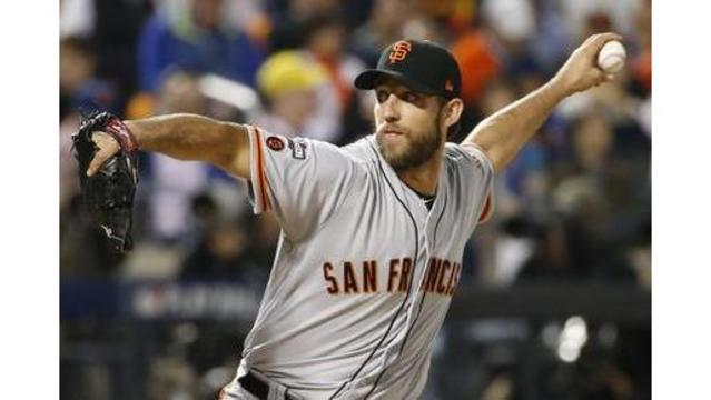 Suffers hand fracture — Madison Bumgarner