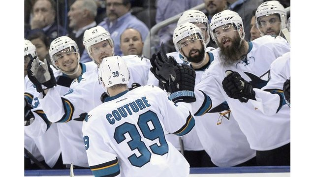 Couture, Sharks rally for 3-2 shootout win at Toronto