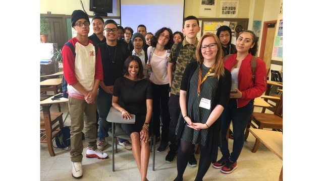 KRON4's Alecia Ried at Mission High School for Career Day