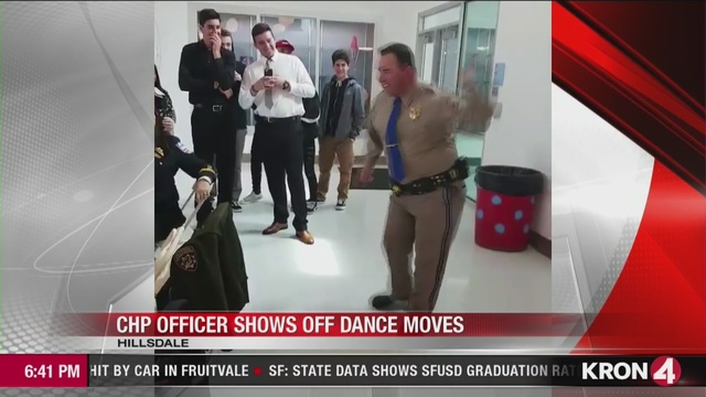 VIDEO: San Jose CHP officer dances for high school students
