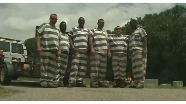 VIDEO: Inmates save guard's life when he collapses during work detail
