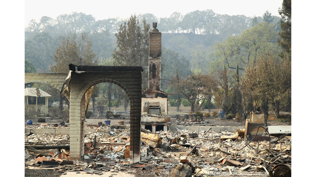 Multiple Wildfires Continue To Ravage Through California Wine Country_648453