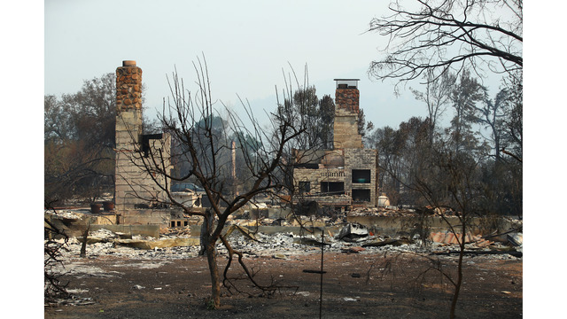 Multiple Wildfires Continue To Ravage Through California Wine Country_648462