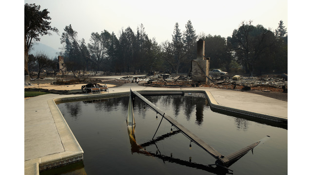 Multiple Wildfires Continue To Ravage Through California Wine Country_648459