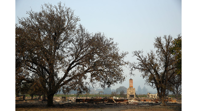 Multiple Wildfires Continue To Ravage Through California Wine Country_648458