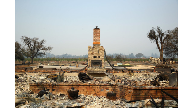Multiple Wildfires Continue To Ravage Through California Wine Country_648463