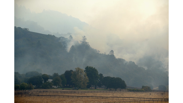Multiple Wildfires Continue To Ravage Through California Wine Country_648465