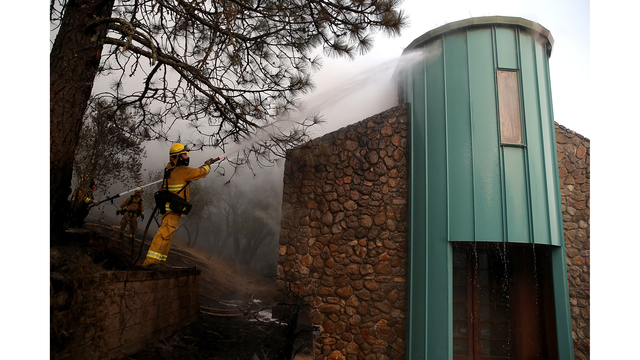 Multiple Wildfires Destroy Homes, Threaten California Wine Country_650019