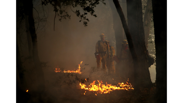 Multiple Wildfires Destroy Homes, Threaten California Wine Country_650023