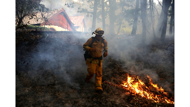 Multiple Wildfires Destroy Homes, Threaten California Wine Country_650021
