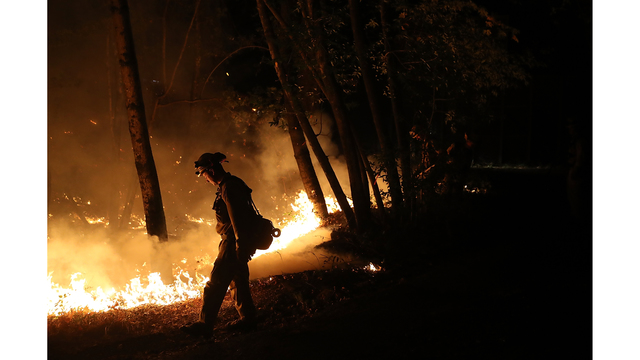Multiple Wildfires Destroy Homes, Threaten California Wine Country_650005