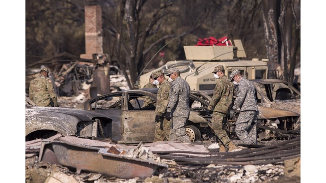 Multiple Wildfires Continue To Ravage Through California Wine Country_651627
