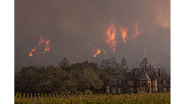 Multiple Wildfires Continue To Ravage Through California Wine Country_651629