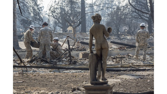 Multiple Wildfires Continue To Ravage Through California Wine Country_651653
