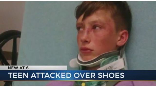 'They could've killed him': Mom says son was beaten for his shoes