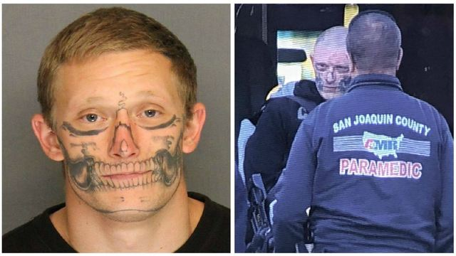 Escaped inmate with skull face tattoo captured in Stockton