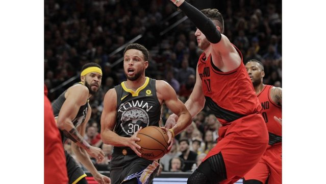 Warriors fall to 2nd in the West after loss in Portland