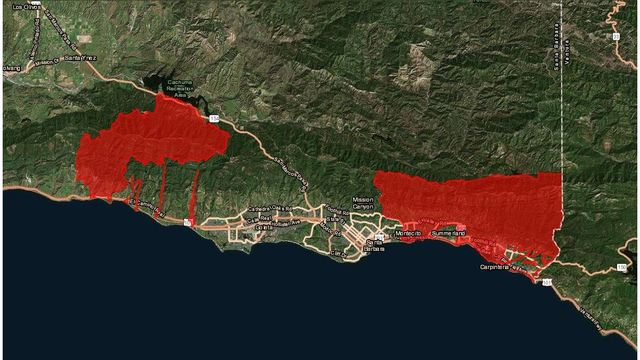 Evacuation ordered in Southern California mudslide area