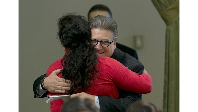 California lawmaker banned from hugging after investigation
