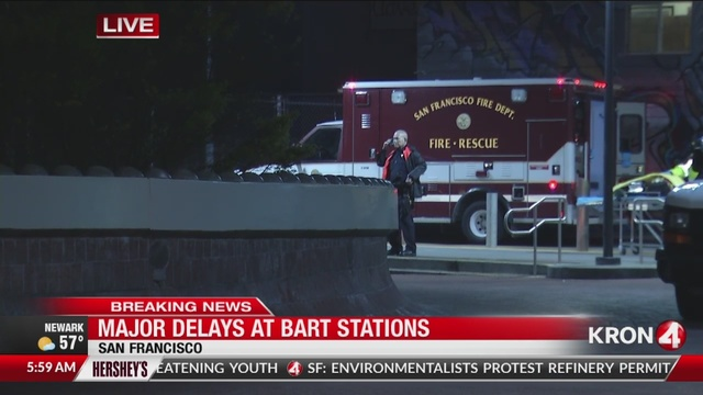 BART: Major delays at all San Francisco stations after tracks catch fire near 24th St.