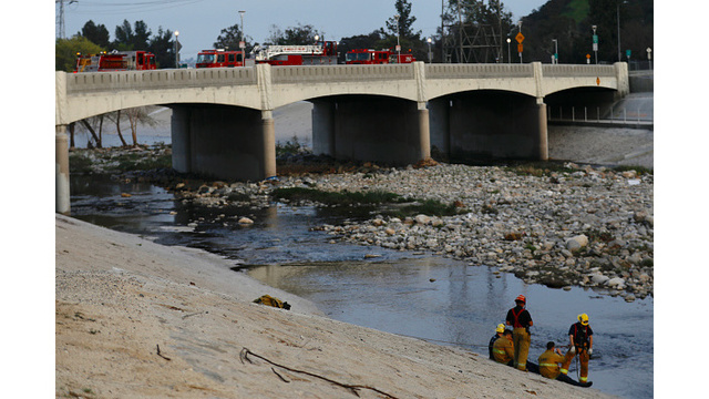 Firefighters searching LA River near Griffith Park for boy who fell in