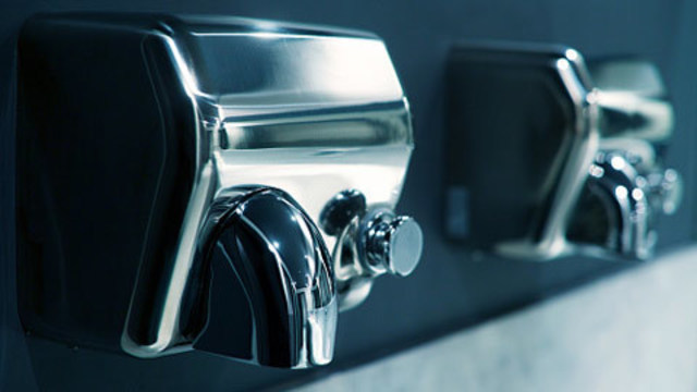 Study: Hand dryers suck up germs, spray it on your hands