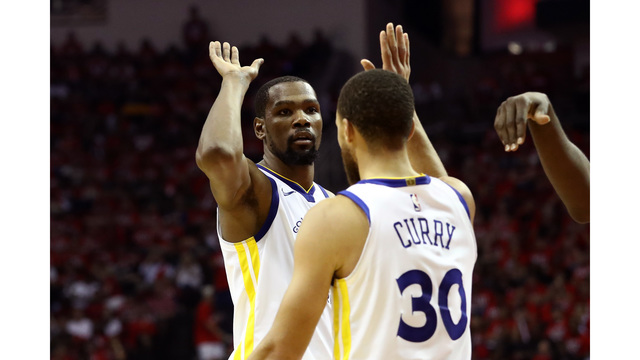 Warriors take crucial Game 1 over Rockets in Western Conference Finals
