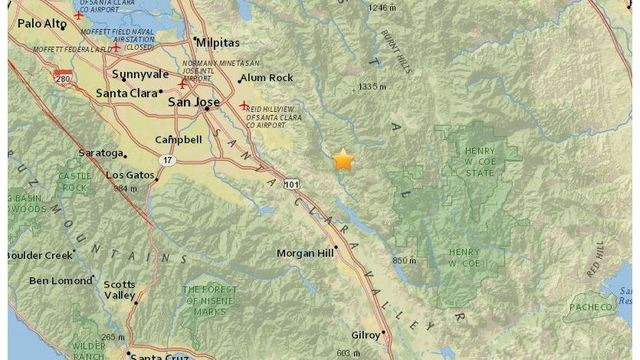 3.2-magnitude earthquake strikes near Morgan Hill