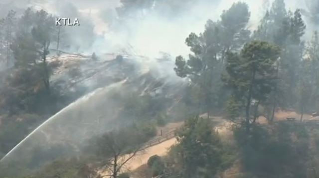 LAFD battling fire near Griffith Observatory