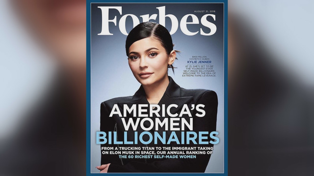 Internet divided over Forbes cover of 'self-made' billionaire Kylie Jenner